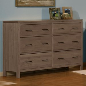 Archbold Furniture 2 West 6 Drawer Dresser