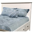 Archbold Furniture Portland Queen Shiplap 2-Tone Headboard Only - Item Number: 51198DSW