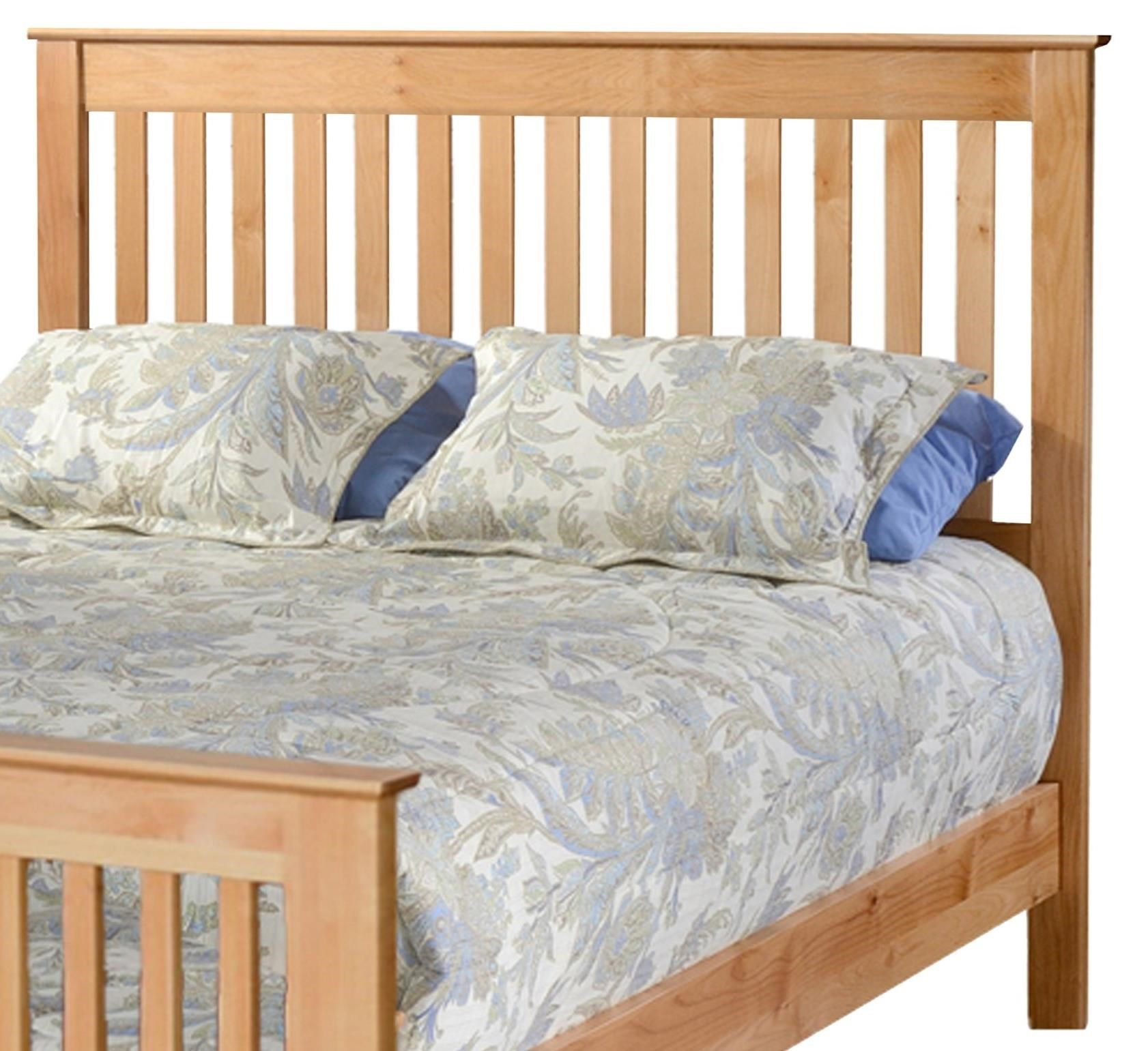 Shaker Full Slat Headboard Only by Archbold Furniture at Steger's Furniture