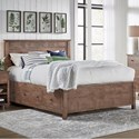 Archbold Furniture Heritage Queen Elevated Storage Bed - Item Number: 62198+2x320+302+370