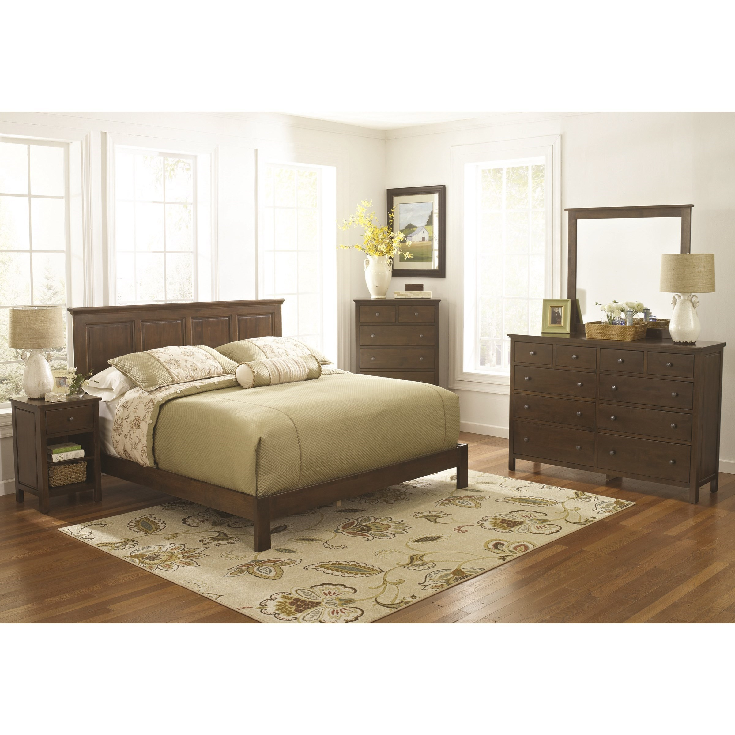 Alder Heritage Raised Panel Bed Bedroom Group by Archbold Furniture at Mueller Furniture