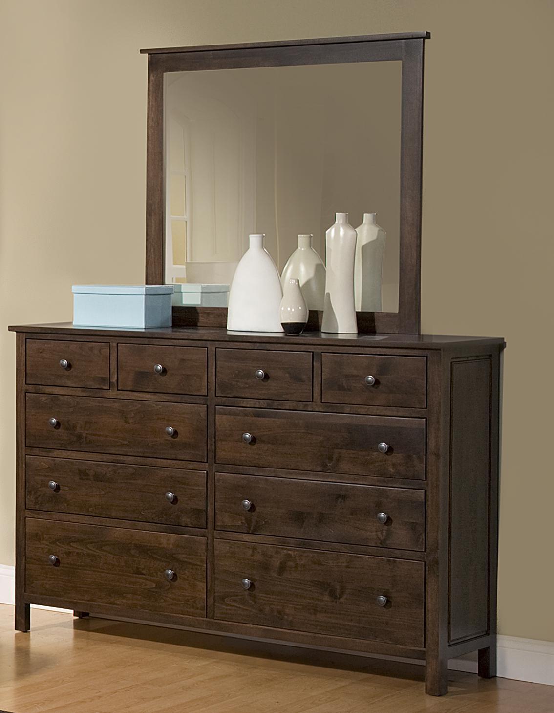10 Drawer Dresser & Mirror Combo
