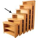 Archbold Furniture Alder Home Office Open Bookcase - Item Number: 63648