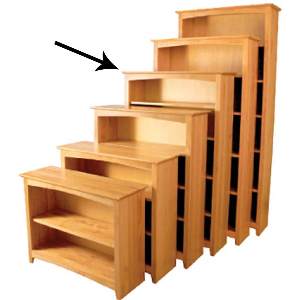 Archbold Furniture Alder Home Office Open Bookcase - Item Number: 63660
