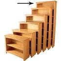 "Archbold Furniture Alder Home Office 84"" Tall Bookcase - Item Number: 63684"