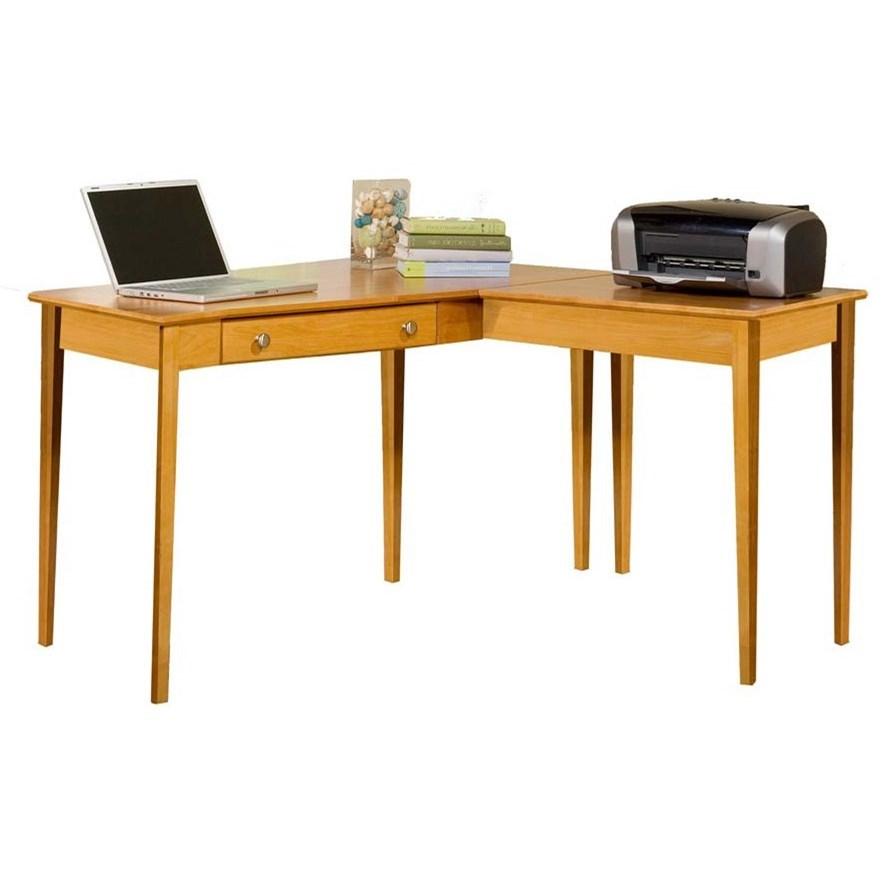 Archbold Furniture Alder Home Office L Shape Table Desk With Single Drawer Mueller Furniture