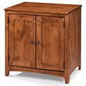 Archbold Furniture Alder Shaker Home Office 2 Door Cabinet  - Item Number: ARC6513S
