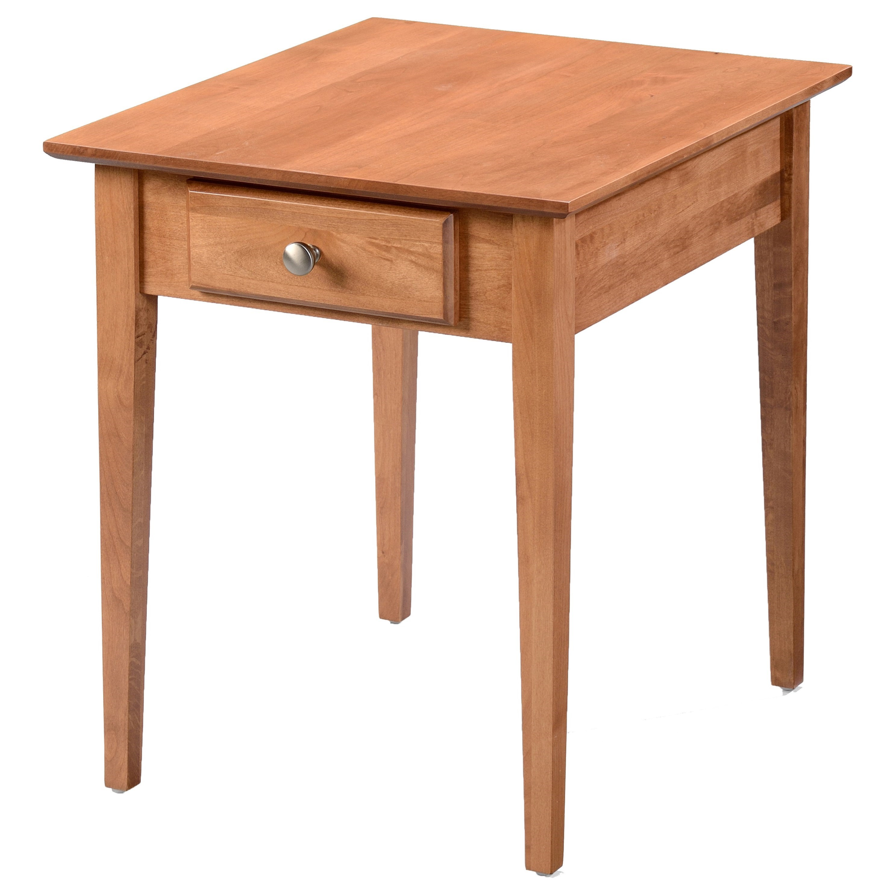 Alder Shaker Tables Large End Table by Archbold Furniture at Mueller Furniture
