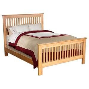 Archbold Furniture Alder Shaker Queen Slat Bed