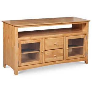 "Archbold Furniture Alder Shaker 54"" TV Console"