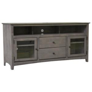 "Archbold Furniture Alder Shaker 62"" TV Console"