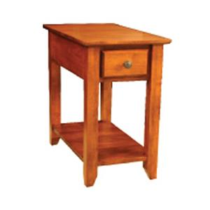 Archbold Furniture Alder Shaker Chairside Table