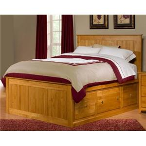 Archbold Furniture Alder Shaker King Flat Panel Chest Bed