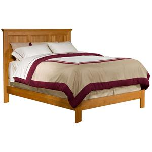 Archbold Furniture Alder Shaker Queen Raised Panel Bed