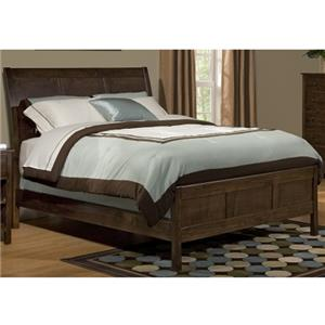 Archbold Furniture Alder Shaker Queen Sleigh Bed