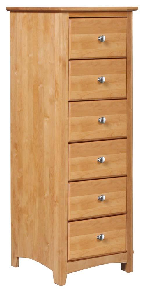Shaker Bedroom 6 Drawer Lingerie Chest by Archbold Furniture at Belfort Furniture