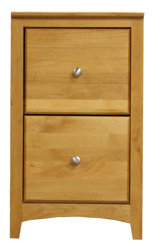Archbold Furniture Alder Shaker 2 Drawer File  - Item Number: ARC6512XS
