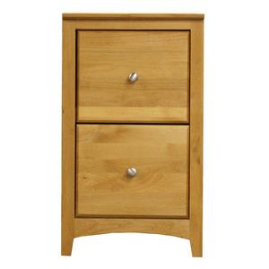 Archbold Furniture Alder Shaker 2 Drawer File