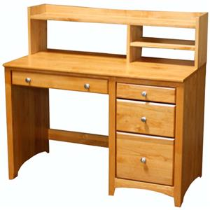 Archbold Furniture Alder Shaker Desk and Hutch