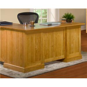 Archbold Furniture Alder Shaker Desk for Return