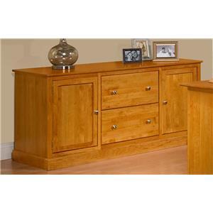 Archbold Furniture Alder Shaker Credenza