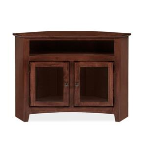 Archbold Furniture Alder Shaker Corner TV Console