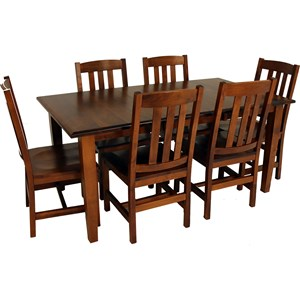 7-Piece Rectangle Table and Cooper Chair Set