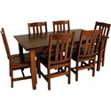 Archbold Furniture Amish Essentials 7-Piece Dining Set - Item Number: 4013648MM+400L01MM+6x41006MM