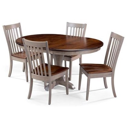 Amish Essentials 5 Piece Dining Set by Amish Traditions at Sprintz Furniture