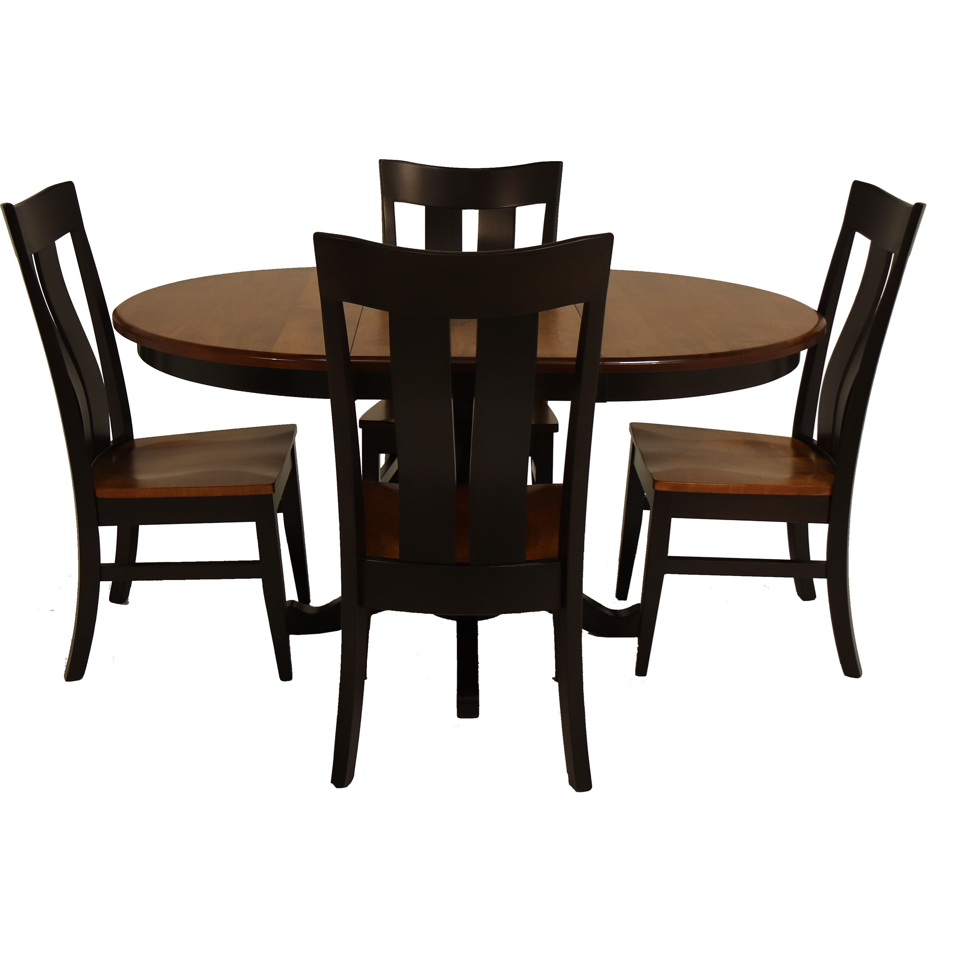 Amish Essentials 5 Piece Rebecca Table and Florence Chair Set by Archbold Furniture at Steger's Furniture