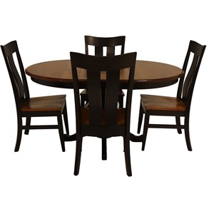 5 Piece Rebecca Table and Florence Chair Set