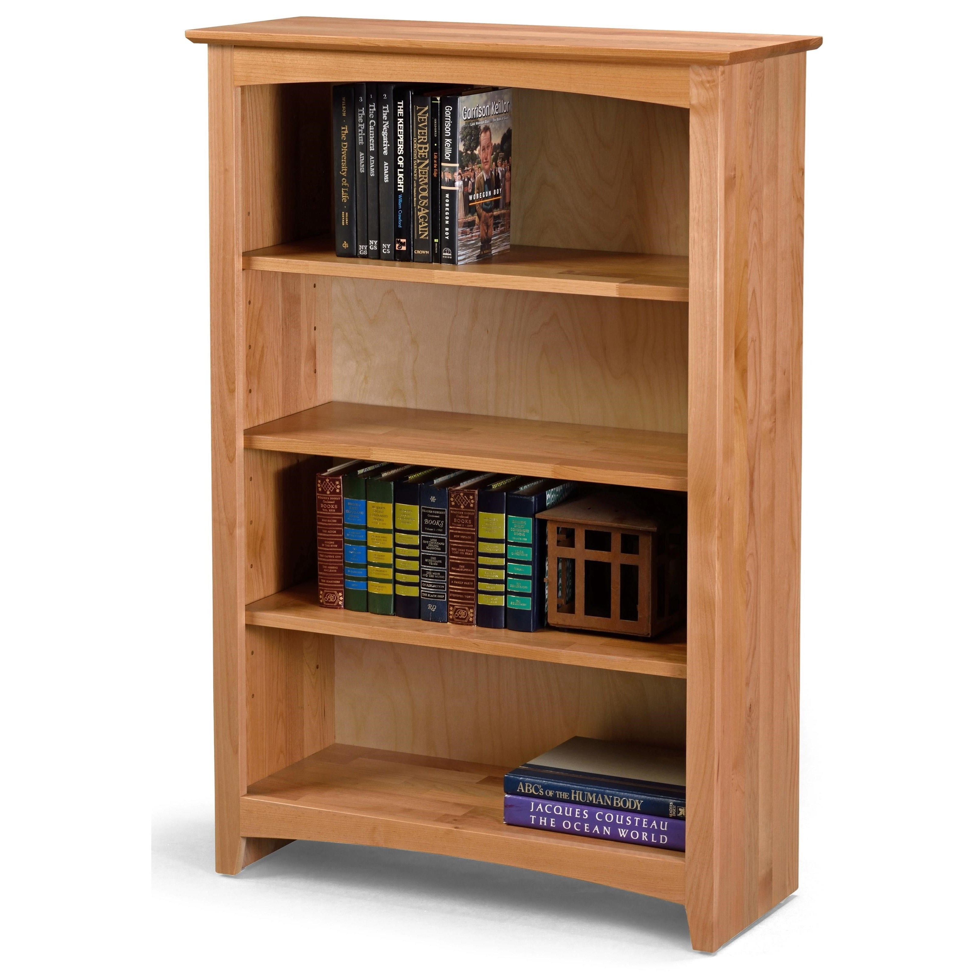Archbold Furniture Bookcases Solid Wood Alder Bookcase With