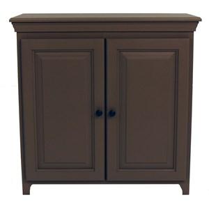 Solid Pine 2 Door Cabinet with 2 Adjustable Shelves