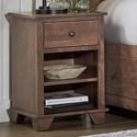 Archbold Furniture Portland 1 Drawer Nightstand - Item Number: 50141