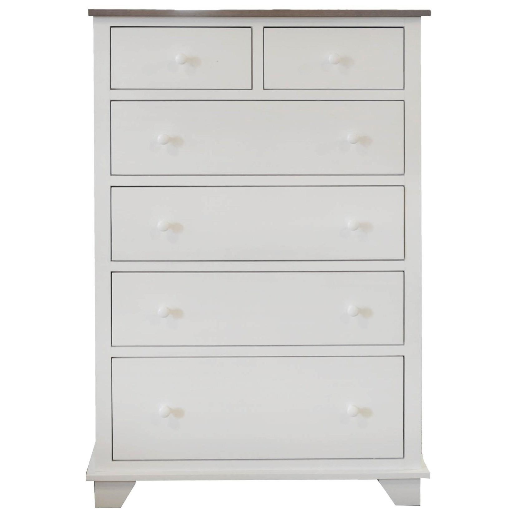 Portland 6 Drawer Chest with 2 Deep Drawers by Archbold Furniture at Johnny Janosik