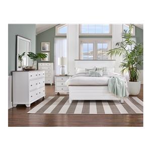 Queen Bed, Nightstand, Dresser and Mirror