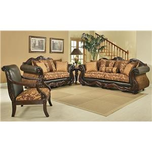 Del Sol Exclusive Eagle Sofa & Love Seat