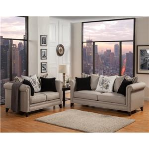 Del Sol Exclusive Florentine-Mink Living room Set