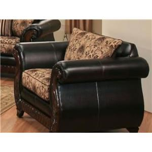 Del Sol Exclusive Montecristo Dundee Dark Brown Chair