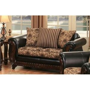 Del Sol Exclusive Montecristo Dundee Dark Brown Love Seat