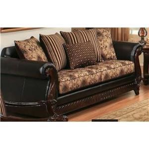 Del Sol Exclusive Montecristo Dundee Dark Brown Sofa