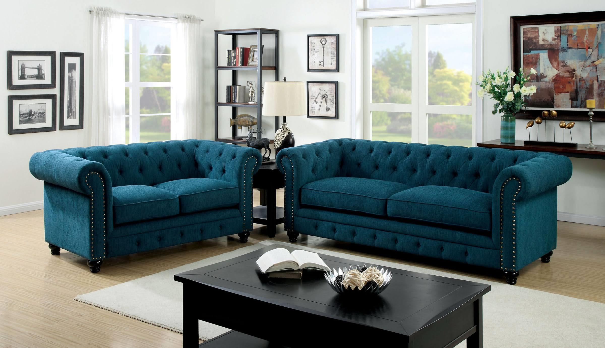 Furniture of America / Import Direct Stanford Sofa & Love Seat - Item Number: CM6269TL-SF+CM6269TL-LV