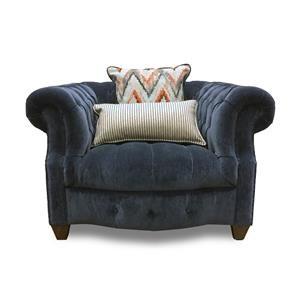 Aria Designs Kendall Blue Velvet Chair