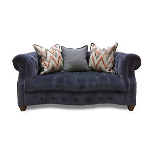 Aria Designs Kendall Blue Velvet Loveseat