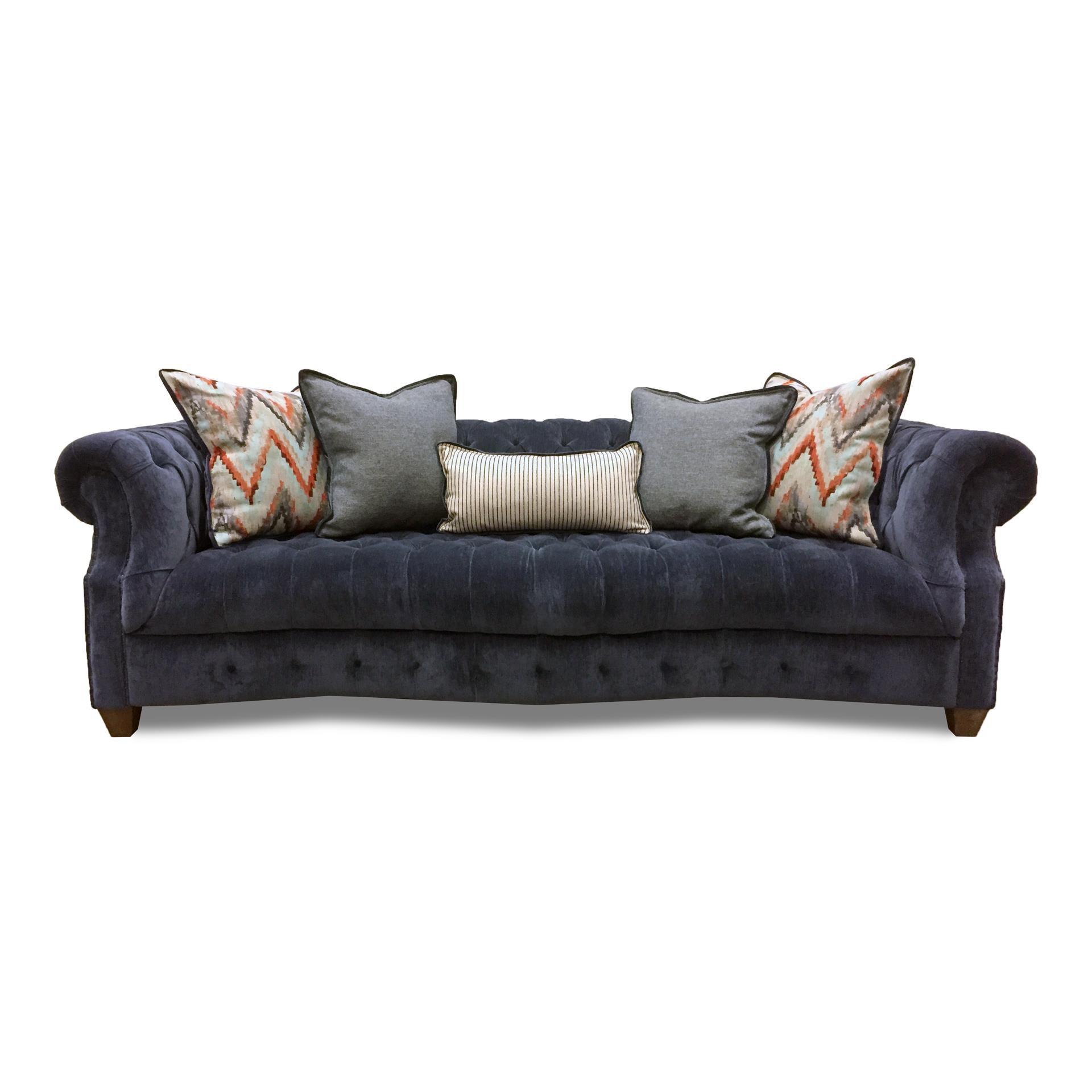 Aria Designs Kendall Blue Velvet Sofa - Item Number: 45-A133S-0-6121L-026