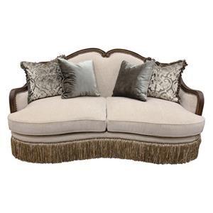 Aria Designs Carlotta Parchment Loveseat