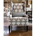 Aria Designs Danielle Chloe Accent Chair - Item Number: 45-20470-6307F-921-EBONY