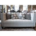 Aria Designs Danielle Upholstered Tufted Loveseat - Item Number: 45-A188L-0-6307C-921-EBONY