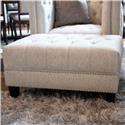 Aria Designs Danielle Upholstered Tufted Ottoman - Item Number: 45-A188O-0-6307E-921-EBONY