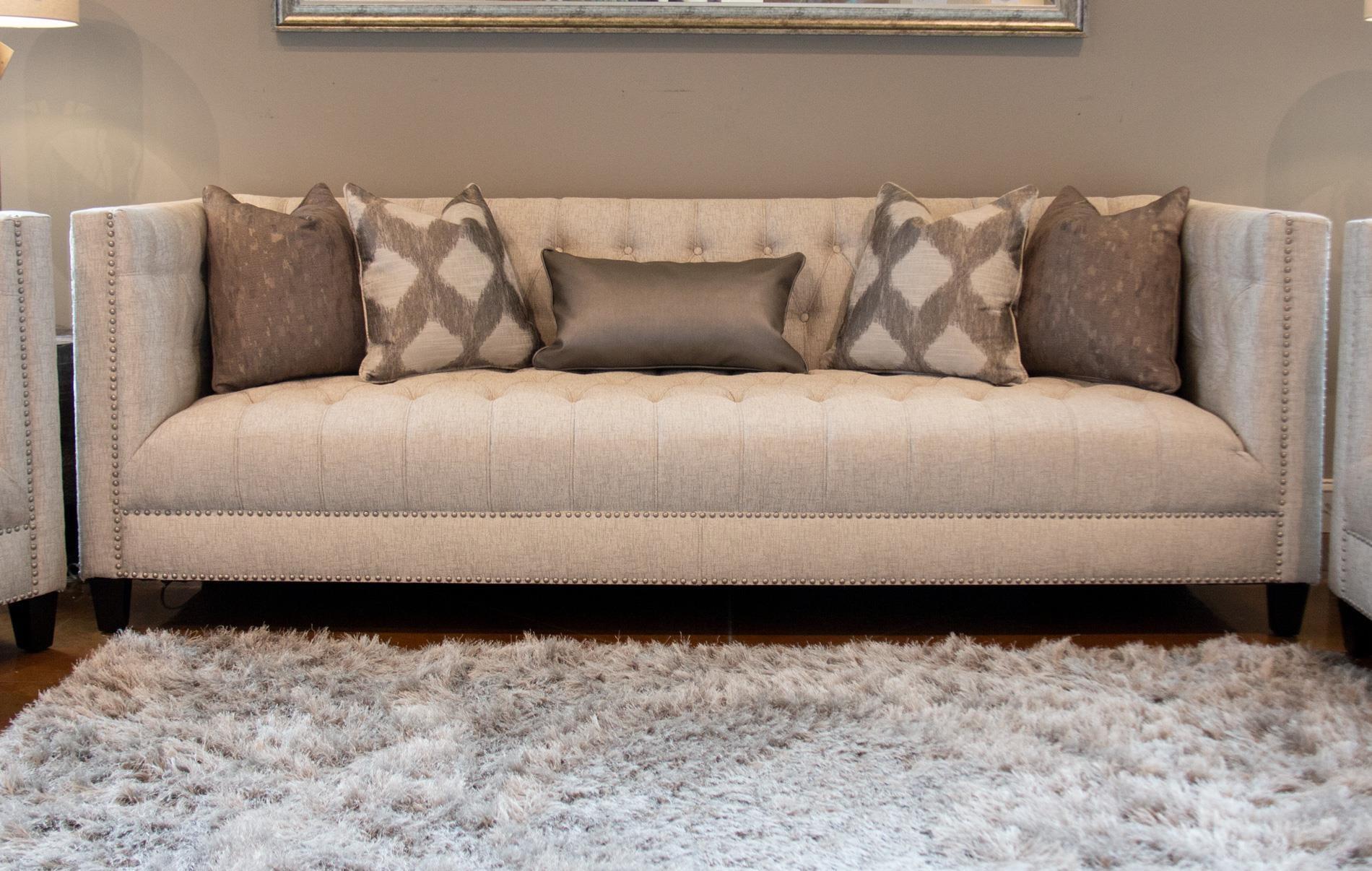 Upholstered Tufted Sofa